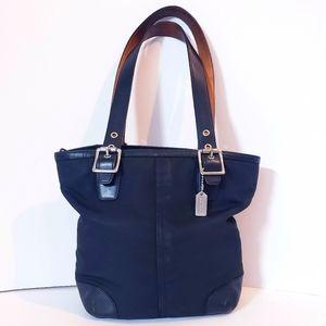 Coach 1835 Nylon & Leather Black Bag